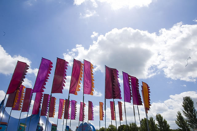 Red & Pink flags